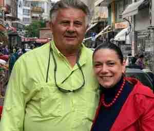 The author with Sofia Bournatzi of Pass Partout Tourism Marketing, Thessaloniki